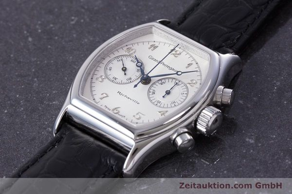 Used luxury watch Girard Perregaux Richeville chronograph steel manual winding Kal. LWO 1872 Ref. 2710  | 153654 01