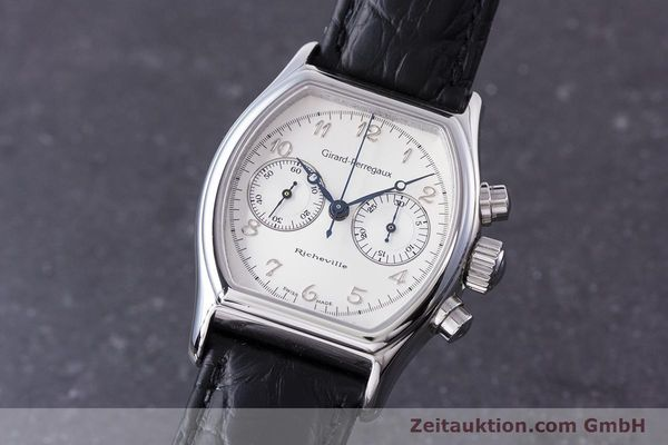 Used luxury watch Girard Perregaux Richeville chronograph steel manual winding Kal. LWO 1872 Ref. 2710  | 153654 04