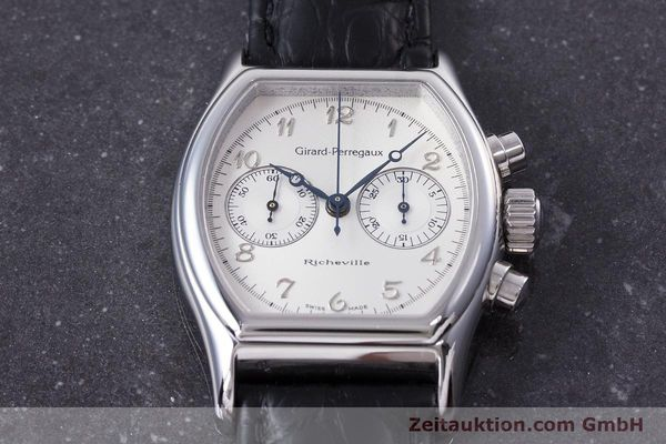 Used luxury watch Girard Perregaux Richeville chronograph steel manual winding Kal. LWO 1872 Ref. 2710  | 153654 14