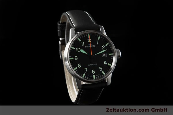 Used luxury watch Fortis Flieger steel automatic Kal. ETA 2824-2 Ref. 595.11.46.3  | 153658 01