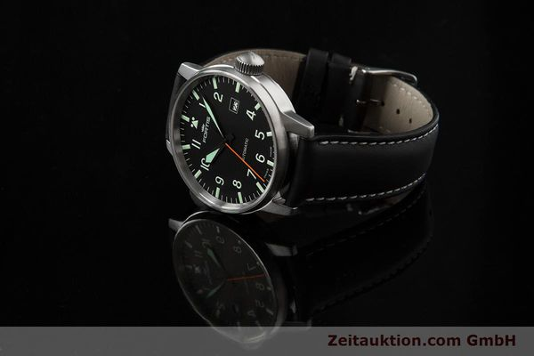 Used luxury watch Fortis Flieger steel automatic Kal. ETA 2824-2 Ref. 595.11.46.3  | 153658 04