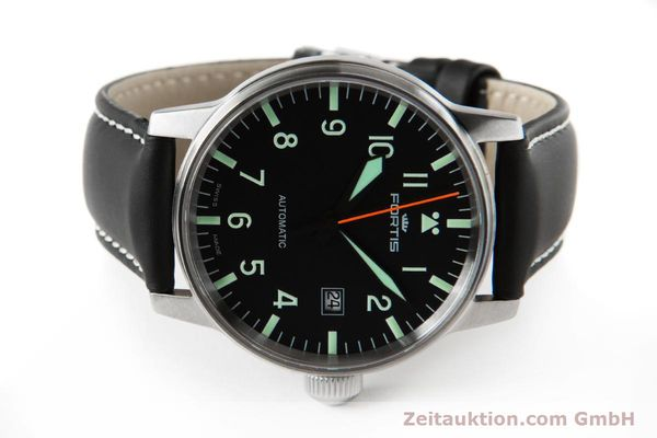 Used luxury watch Fortis Flieger steel automatic Kal. ETA 2824-2 Ref. 595.11.46.3  | 153658 09