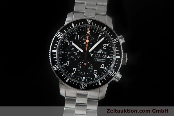 Used luxury watch Fortis B-42 chronograph steel automatic Ref. 638.10.141.4  | 153660 05