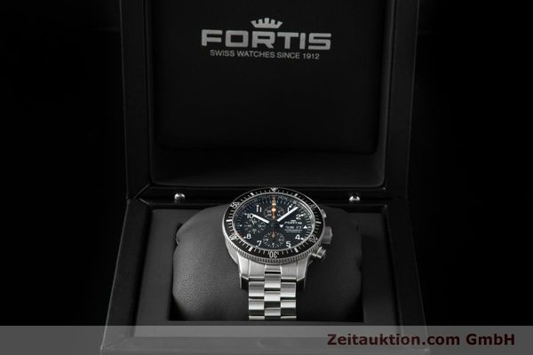 Used luxury watch Fortis B-42 chronograph steel automatic Ref. 638.10.141.4  | 153660 07