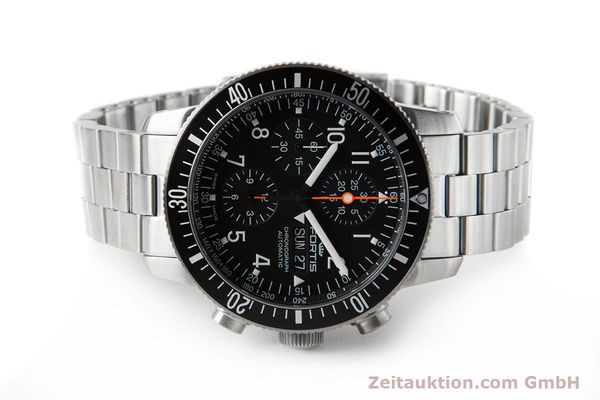 Used luxury watch Fortis B-42 chronograph steel automatic Ref. 638.10.141.4  | 153660 09