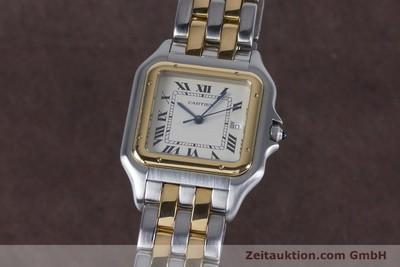 CARTIER PANTHERE STEEL / GOLD QUARTZ KAL. 87.06 LP: 7100EUR [153666]