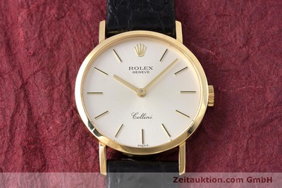 ROLEX CELLINI OR 18 CT À REMONTAGE MANUEL KAL. 1602 LP: 4300EUR [153714]