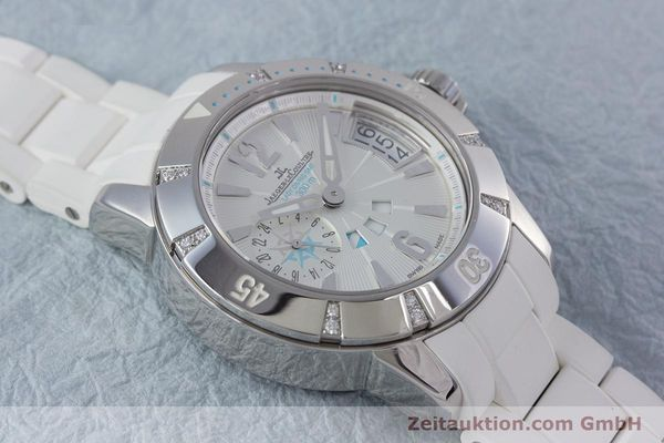 Used luxury watch Jaeger Le Coultre Master Compressor steel automatic Kal. 971D Ref. 156.8.61  | 153716 14