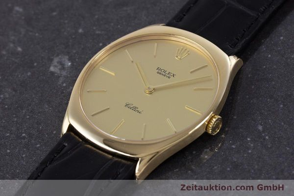 Used luxury watch Rolex Cellini 18 ct gold manual winding Kal. 1601 Ref. 4133  | 160011 01