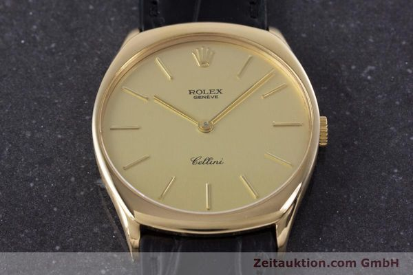 Used luxury watch Rolex Cellini 18 ct gold manual winding Kal. 1601 Ref. 4133  | 160011 15