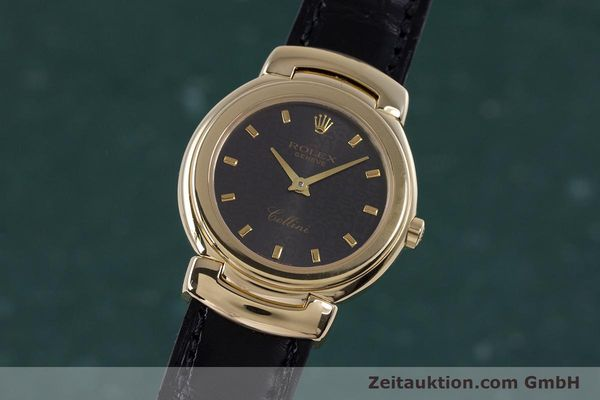 Used luxury watch Rolex Cellini 18 ct gold quartz Kal. 6620 Ref. 6621  | 160012 04