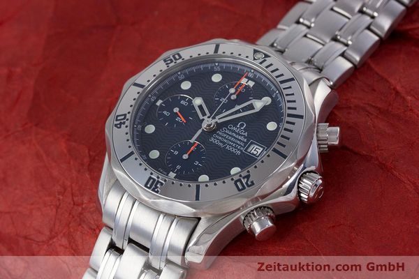 Used luxury watch Omega Seamaster chronograph steel automatic Kal. 1164 Ref. 25988000  | 160013 01