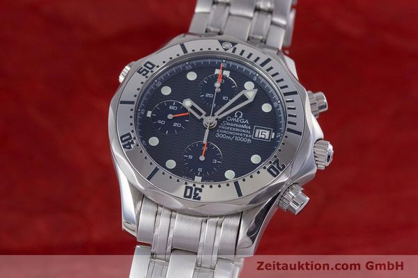 Used luxury watch Omega Seamaster chronograph steel automatic Kal. 1164 Ref. 25988000  | 160013 04