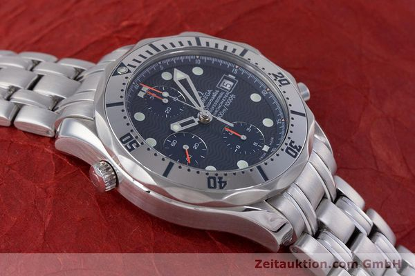 Used luxury watch Omega Seamaster chronograph steel automatic Kal. 1164 Ref. 25988000  | 160013 18
