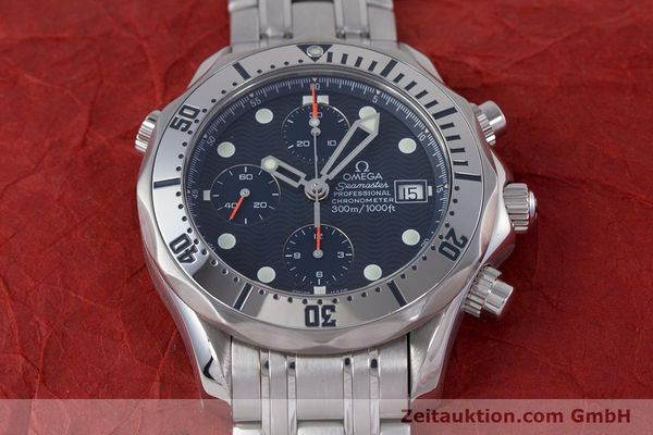 Used luxury watch Omega Seamaster chronograph steel automatic Kal. 1164 Ref. 25988000  | 160013 19