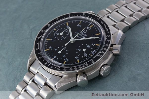 Used luxury watch Omega Speedmaster chronograph steel automatic Kal. 1140 ETA 2890-2 Ref. 1750032, 1750033  | 160026 01