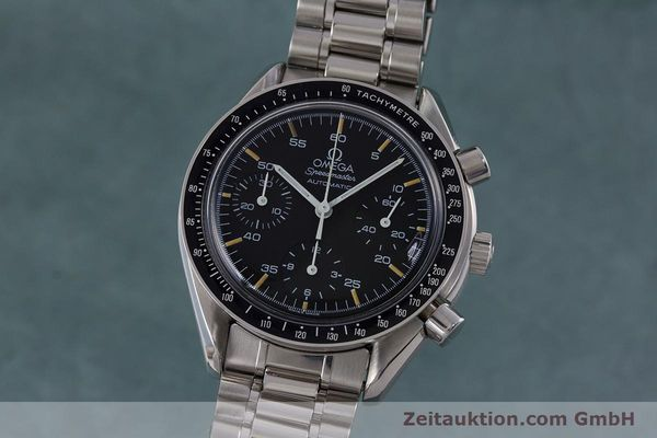 Used luxury watch Omega Speedmaster chronograph steel automatic Kal. 1140 ETA 2890-2 Ref. 1750032, 1750033  | 160026 04