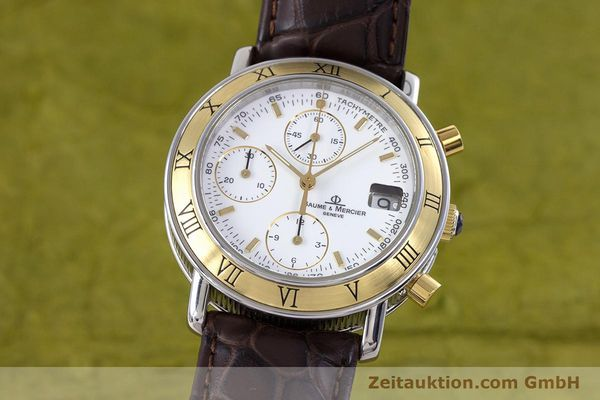 BAUME & MERCIER BAUMATIC CHRONOGRAPHE ACIER / OR AUTOMATIQUE KAL. BM13283A ETA 2892A2 LP: 3490EUR [160039]
