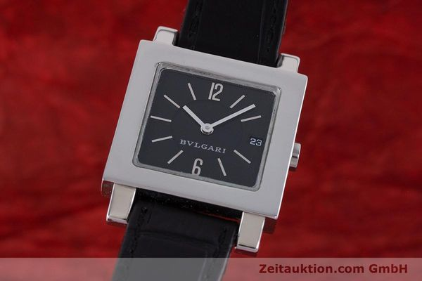Used luxury watch Bvlgari Quadrato steel quartz Ref. SQ27SLD  | 160041 04