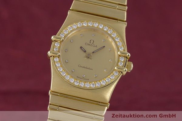 OMEGA LADY 18K GOLD CONSTELLATION DIAMANTEN DAMENUHR VP: 22100,- EURO [160052]