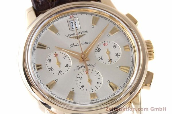 Used luxury watch Longines Conquest chronograph 18 ct gold automatic Kal. L650.2 ETA 2894-2 Ref. L1.641.8  | 160083 02