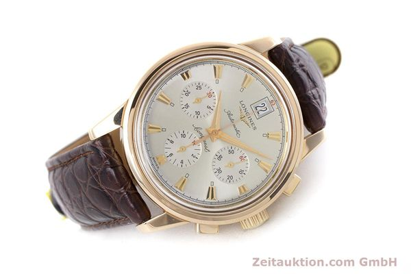 Used luxury watch Longines Conquest chronograph 18 ct gold automatic Kal. L650.2 ETA 2894-2 Ref. L1.641.8  | 160083 03