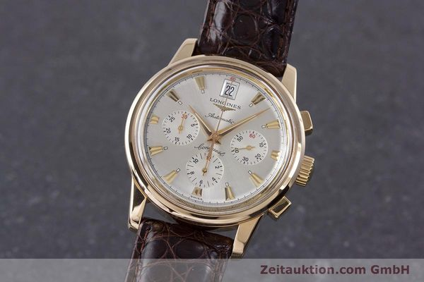 LONGINES 18K GOLD CONQUEST CHRONOGRAPH AUTOMATIK HERRENUHR L1.641.8 VP: 8030,- Euro [160083]