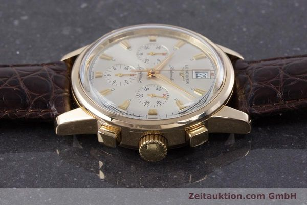 Used luxury watch Longines Conquest chronograph 18 ct gold automatic Kal. L650.2 ETA 2894-2 Ref. L1.641.8  | 160083 05