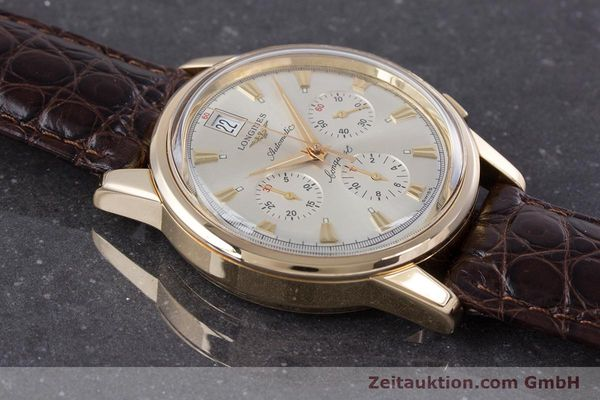 Used luxury watch Longines Conquest chronograph 18 ct gold automatic Kal. L650.2 ETA 2894-2 Ref. L1.641.8  | 160083 13