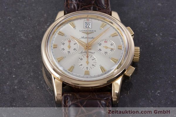 Used luxury watch Longines Conquest chronograph 18 ct gold automatic Kal. L650.2 ETA 2894-2 Ref. L1.641.8  | 160083 14