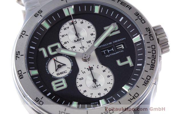 Used luxury watch Porsche Design Flat Six chronograph steel automatic Kal. ETA 7750 Ref. P6340  | 160096 02