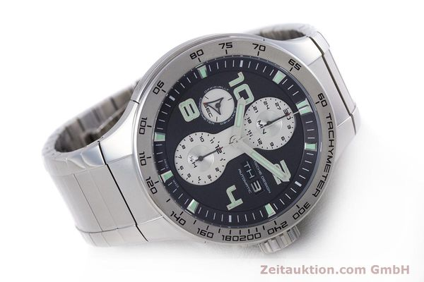 Used luxury watch Porsche Design Flat Six chronograph steel automatic Kal. ETA 7750 Ref. P6340  | 160096 03