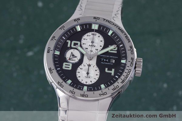 Used luxury watch Porsche Design Flat Six chronograph steel automatic Kal. ETA 7750 Ref. P6340  | 160096 04