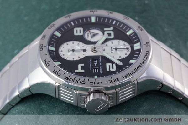 Used luxury watch Porsche Design Flat Six chronograph steel automatic Kal. ETA 7750 Ref. P6340  | 160096 05