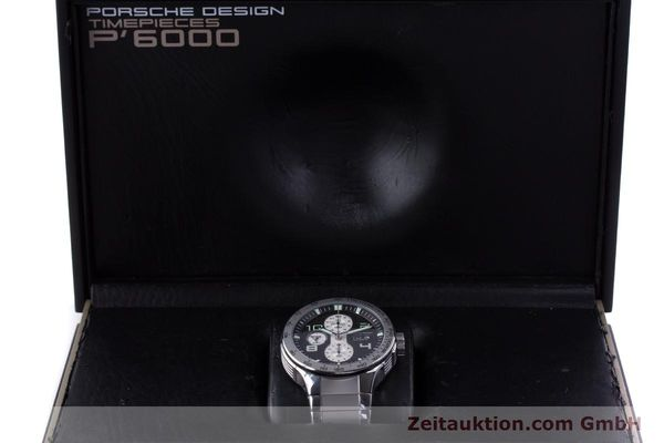 Used luxury watch Porsche Design Flat Six chronograph steel automatic Kal. ETA 7750 Ref. P6340  | 160096 07