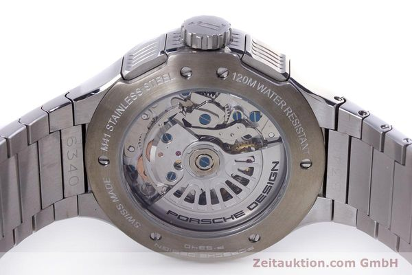 Used luxury watch Porsche Design Flat Six chronograph steel automatic Kal. ETA 7750 Ref. P6340  | 160096 09
