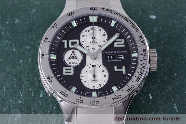 Used luxury watch Porsche Design Flat Six chronograph steel automatic Kal. ETA 7750 Ref. P6340  | 160096 14