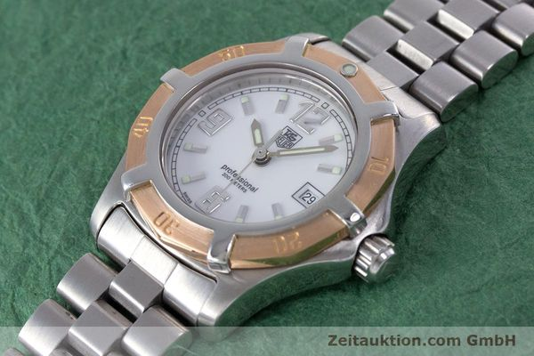 Used luxury watch Tag Heuer Professional steel / gold quartz Kal. 2.98 ETA 956112  | 160099 01