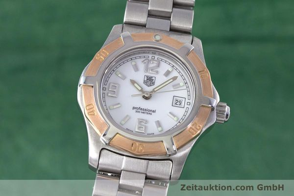 Used luxury watch Tag Heuer Professional steel / gold quartz Kal. 2.98 ETA 956112  | 160099 04