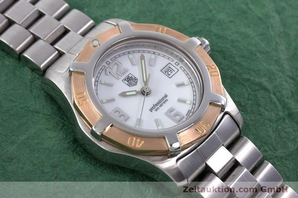 Used luxury watch Tag Heuer Professional steel / gold quartz Kal. 2.98 ETA 956112  | 160099 15