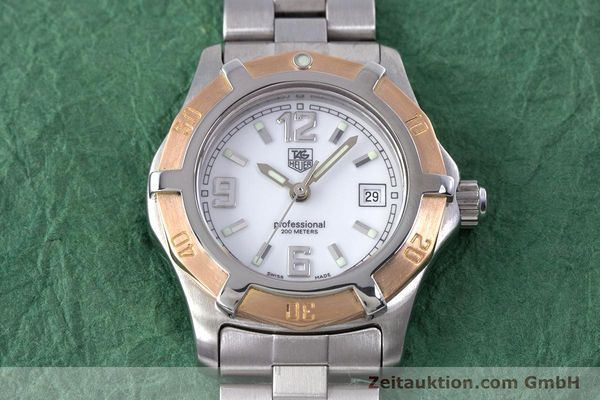 Used luxury watch Tag Heuer Professional steel / gold quartz Kal. 2.98 ETA 956112  | 160099 16