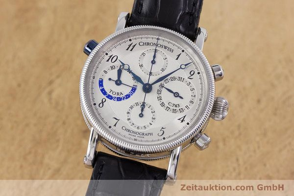 CHRONOSWISS TORA CHRONOGRAPHE ACIER AUTOMATIQUE KAL. 743 LP: 6800EUR [160100]