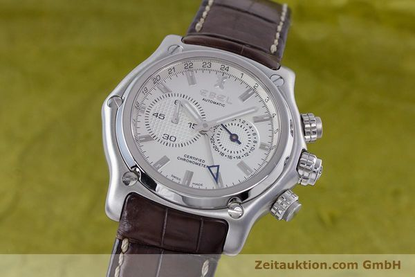 Used luxury watch Ebel 1911 steel automatic Kal. 240 Ref. E9240L70  | 160105 04