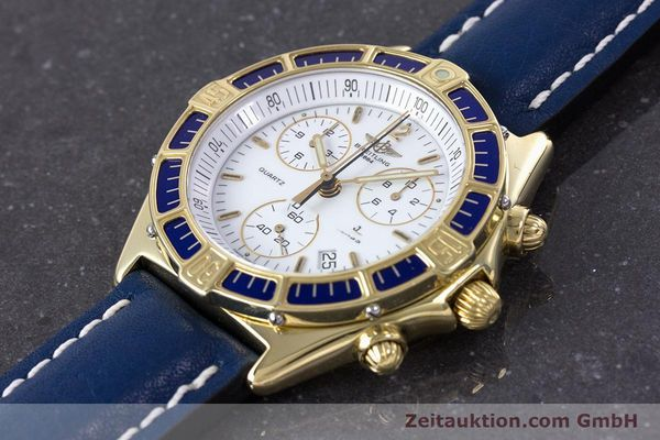 Used luxury watch Breitling J-Class chronograph 18 ct gold quartz Kal. ETA 251262  | 160117 01