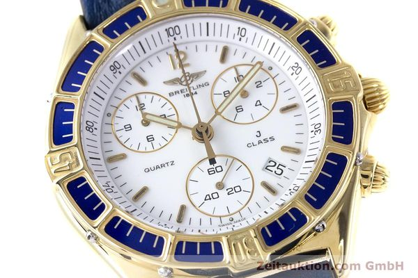 Used luxury watch Breitling J-Class chronograph 18 ct gold quartz Kal. ETA 251262  | 160117 02