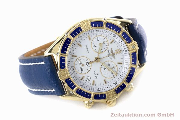 Used luxury watch Breitling J-Class chronograph 18 ct gold quartz Kal. ETA 251262  | 160117 03