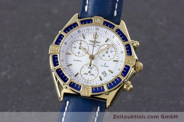 Used luxury watch Breitling J-Class chronograph 18 ct gold quartz Kal. ETA 251262  | 160117 04