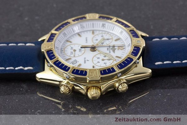 Used luxury watch Breitling J-Class chronograph 18 ct gold quartz Kal. ETA 251262  | 160117 05