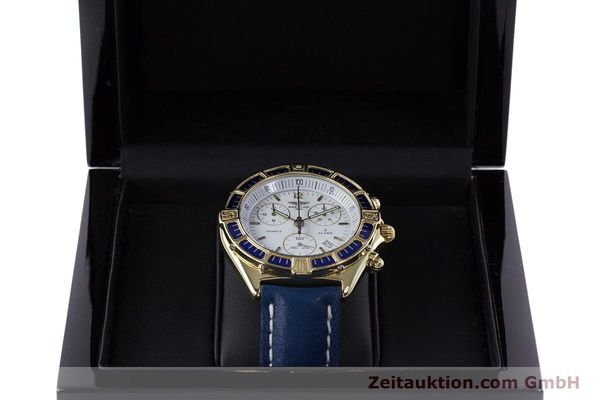 Used luxury watch Breitling J-Class chronograph 18 ct gold quartz Kal. ETA 251262  | 160117 07
