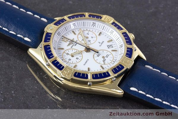 Used luxury watch Breitling J-Class chronograph 18 ct gold quartz Kal. ETA 251262  | 160117 12